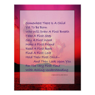 Poema para el poster de los padres anticipados