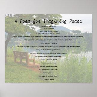 Poema para imaginarse paz póster