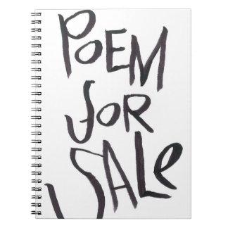 Poema para la venta libro de apuntes con espiral