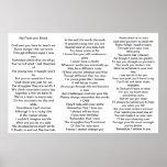 Poema para los padres de niños con el síndrome de  poster