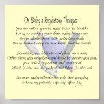 Poema/poster del terapeuta respiratorio