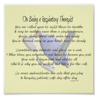 Poema/poster del terapeuta respiratorio póster