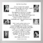 Poema sobre maternidad, la vida diaria y niños poster