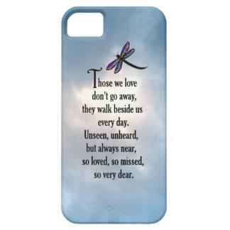 "Poema ""tan amado"" de la libélula iPhone 5 funda"