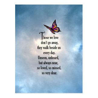 """Poema """"tan amado"""" de la mariposa postal"""