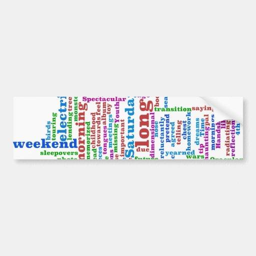 Poema Wordle Etiqueta De Parachoque