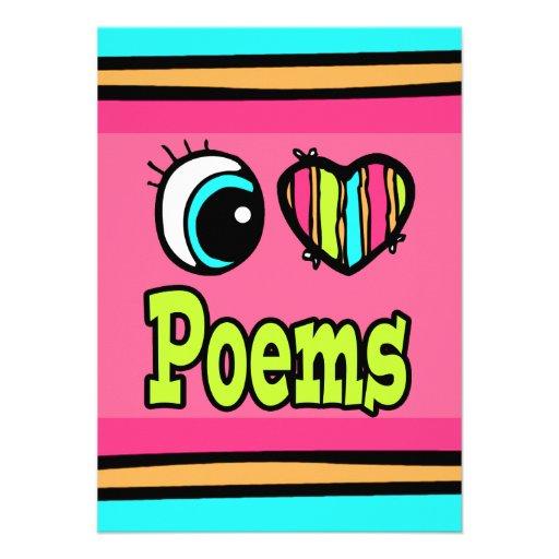 Poemas brillantes del amor del corazón I del ojo