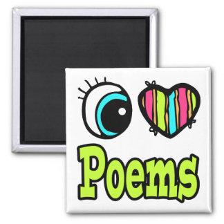 Poemas brillantes del amor del corazón I del ojo Iman Para Frigorífico