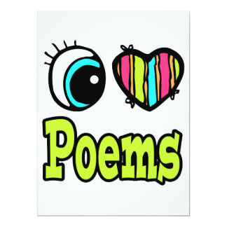 Poemas brillantes del amor del corazón I del ojo Invitación 16,5 X 22,2 Cm