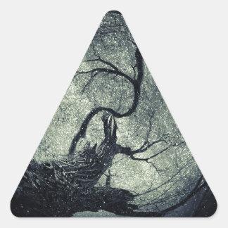 Poemas contra el cielo pegatina triangular