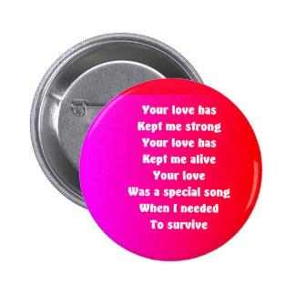 poemas románticos alguien botones especiales pin redondo de 2 pulgadas
