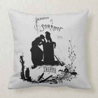Poems of sorrow and death throw pillows