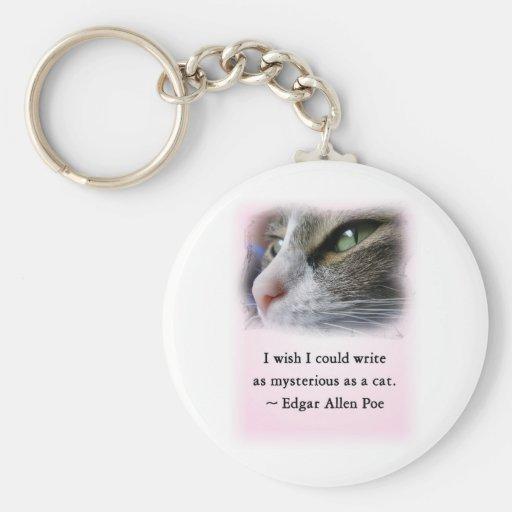 Poe's Cat Basic Round Button Keychain