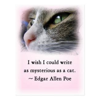 Poe's Cat Postcard