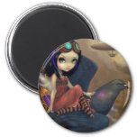 """Poe's Flight"" Mousepad 2 Inch Round Magnet"