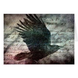 Poe's Grunge Raven, Birthday Cards