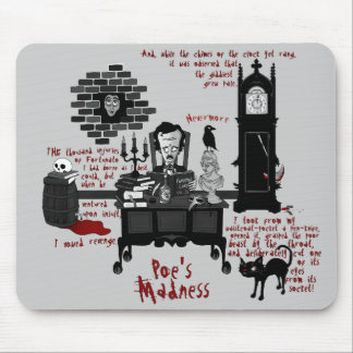 'Poe's Madness' (Version 2) Mousepad