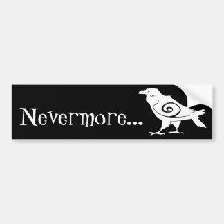 Poe's Nevermore Tribal Raven Bumper Sticker