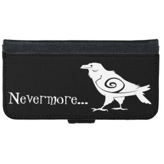 Poe's Nevermore Tribal Raven iPhone 6 Wallet Case