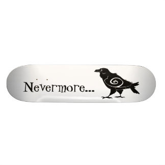Poe's Nevermore Tribal Raven Skateboard