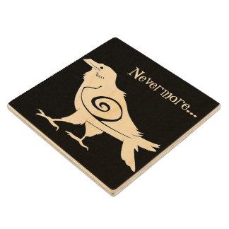 Poe's Nevermore Tribal Raven Wood Coaster
