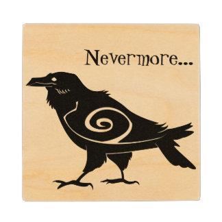 Poe's Nevermore Tribal Raven Wooden Coaster
