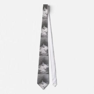 Poe's Raven Dreaming Dreams Print Neck Tie