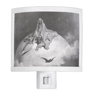 Poe's Raven Dreaming Dreams Print Night Light