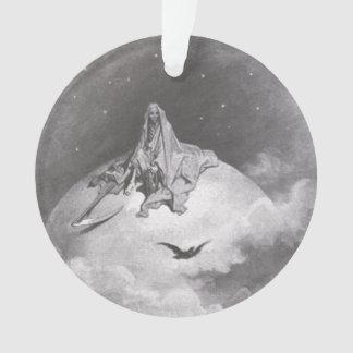 Poe's Raven Dreaming Dreams Print Ornament