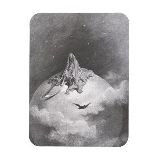 Poe's Raven Dreaming Dreams Print Flexible Magnet
