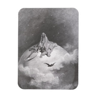 Poe's Raven Dreaming Dreams Print Rectangular Photo Magnet