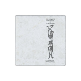 Poe's Tales of Mystery & Imagination Skeleton Stone Magnet
