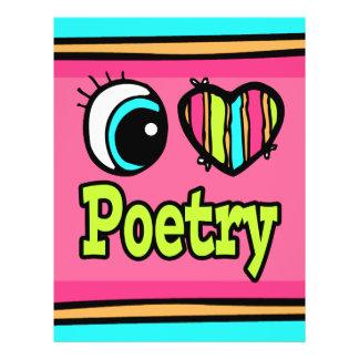 """Poesía brillante del amor del corazón I del ojo Folleto 8.5"""" X 11"""""""