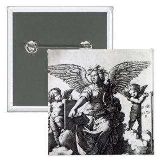 Poesía, c.1515 pin cuadrada 5 cm