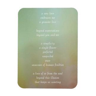Poesía conmovedora del amor del alma iman flexible