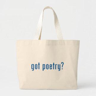 ¿poesía conseguida? bolsa de tela grande