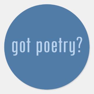 ¿poesía conseguida? pegatina redonda
