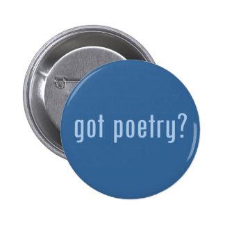 ¿poesía conseguida? pin redondo de 2 pulgadas