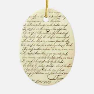 Poesía cursiva de la escritura de la caligrafía de ornamentos de reyes magos