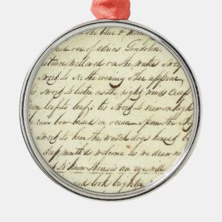 Poesía cursiva de la escritura de la caligrafía de ornamento para arbol de navidad