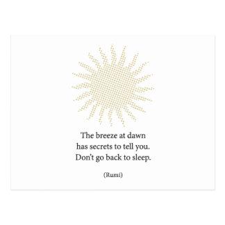 Poesía de la mañana de Rumi Postal