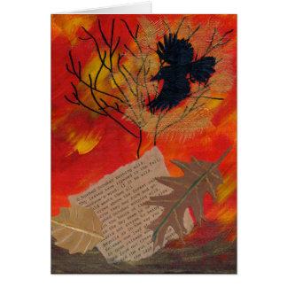 Poesía de Robert Frost de la pintura de octubre Tarjeta De Felicitación
