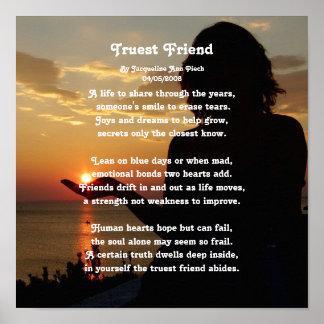 Poesía del amigo más verdadero póster