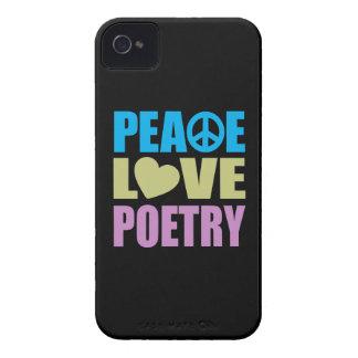 Poesía del amor de la paz Case-Mate iPhone 4 carcasa