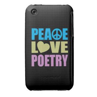 Poesía del amor de la paz iPhone 3 fundas