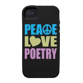 Poesía del amor de la paz vibe iPhone 4 carcasa