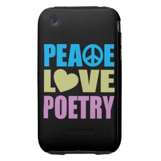 Poesía del amor de la paz tough iPhone 3 carcasas