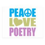 Poesía del amor de la paz postal