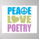 Poesía del amor de la paz posters