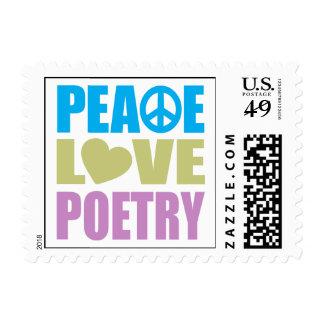 Poesía del amor de la paz sellos